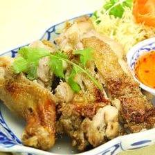 骨付き鶏もも肉のグリル焼き