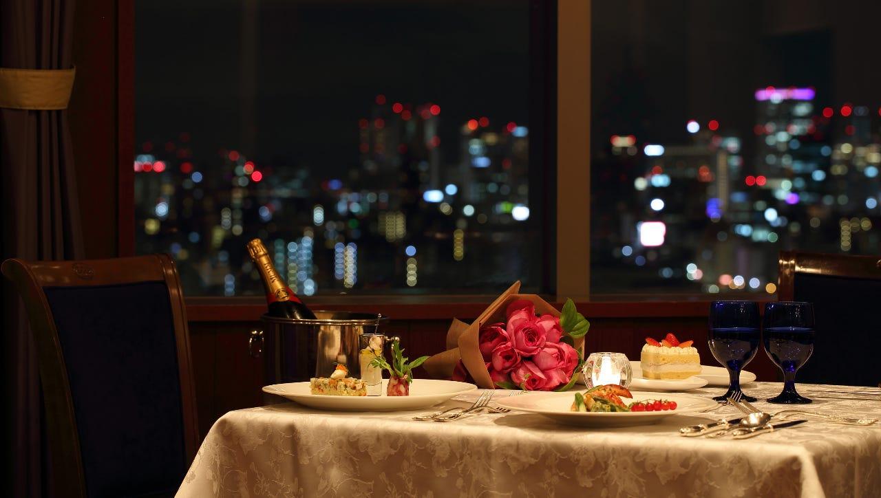 大阪市街の夜景が一望!