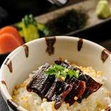 「山椒焚鰻茶漬け」焚いた鰻をお茶漬けにしてお召上がり下さい。