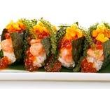 【おすすめ!!】一口贅沢こぼれ寿司(海ぶどうのせ)
