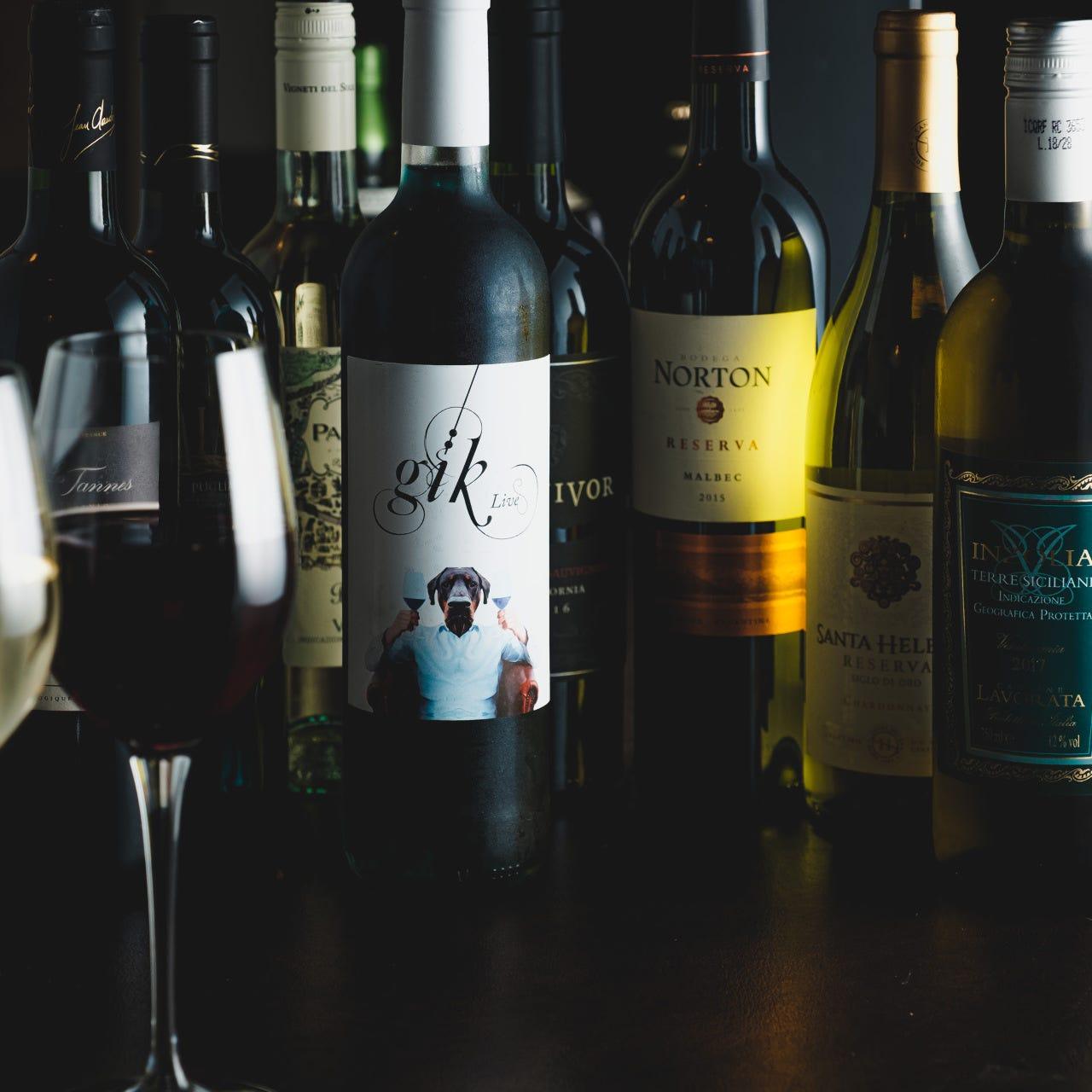 ◆世界各国のワインメニューが充実