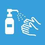 エントランス、トイレ、各フロアにアルコール消毒を設置しております。