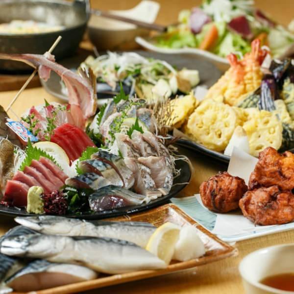 自慢の海鮮とお野菜のご宴会コース♪