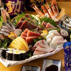 ◆魚海船団一番人気◆本日の刺身六種盛り