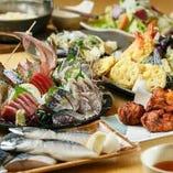 創業34年!新鮮な魚介類と野菜を召し上がれ!