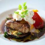 フォアグラと温野菜のソテー