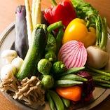 産直野菜も豊富に使用しております