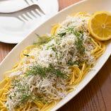 和歌山しらすと瀬戸内レモンのスパゲッティ