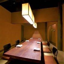接待・会食・記念日に最適な完全個室