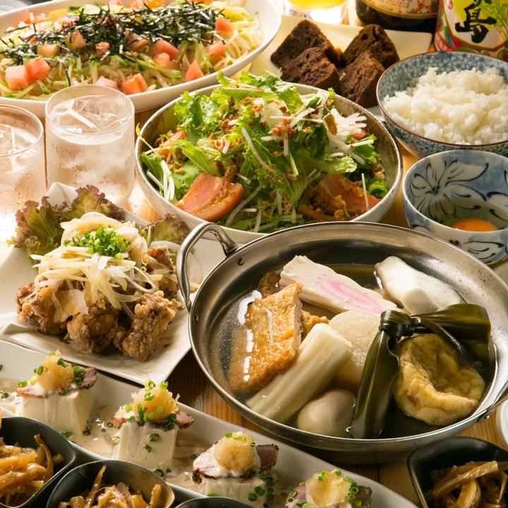 九州宮崎食材を使用したコースを堪能