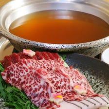 大阪名物 鯨料理『鯨はりしゃぶ鍋』