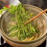 「仙台せりの鍋」 秋から春先までのお楽しみです