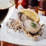 時季により厳選した生牡蠣をご提供!一年中お楽しみいただけます