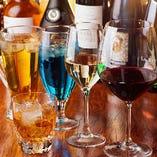 ビール・ウイスキー・カクテル・日本酒など種類豊富なドリンクメニュー