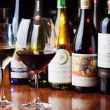 世界各国から厳選したワインを50種類以上取り揃えております