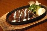 石垣牛100%のハンバーグ。 ちょっぴり、リッチなディナーに!