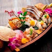 産直鮮魚の造り盛り合わせ