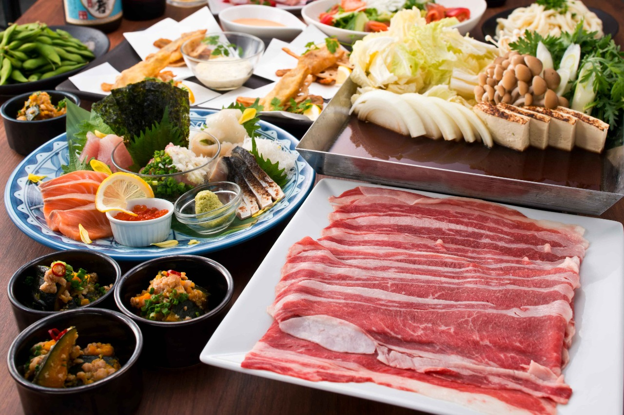 【3H飲み放題付 全9品】国産牛のすき焼き 贅沢コース5000円(税込)