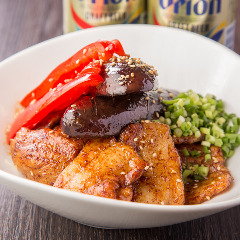 茄子とパプリカと豚の味噌焼き