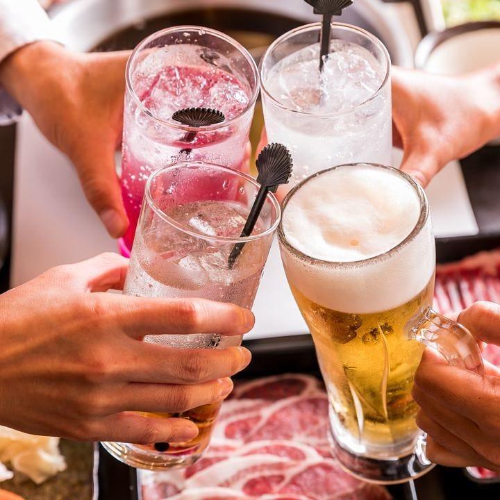 飲み放題付しゃぶしゃぶ食べ放題コースは税込でお得!3,500円~