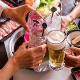 [ご宴会にも最適] 2H飲み放題付コミコミ食べ放題コースをご用意