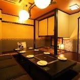庭付きの掘りごたつ席個室<8~10名様×1部屋>
