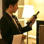 ワインはソムリエがお料理やお客様のご要望に応じてセレクト!