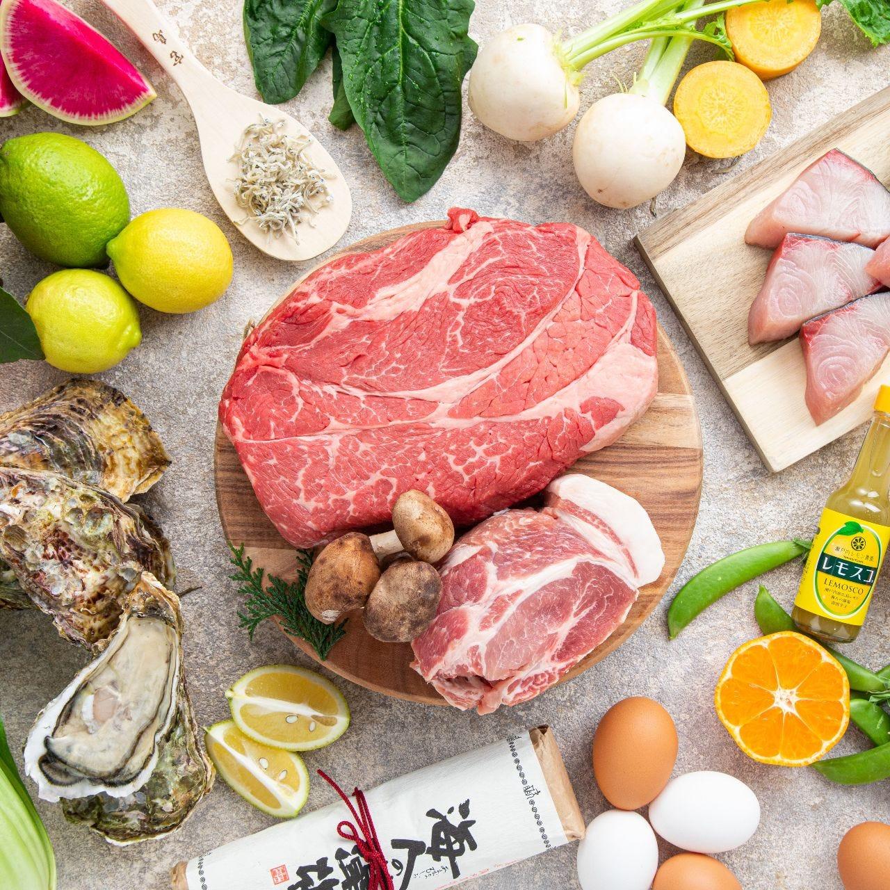 【1月土日祝ランチ】Cheer HIROSHIMA!~食べて応援!~瀬戸もみじ豚など広島の美味が食べ放題