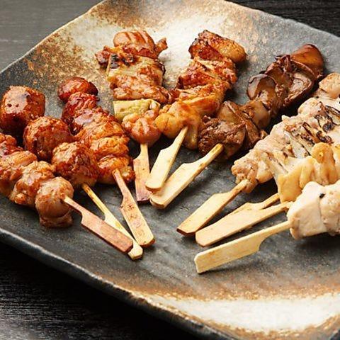 国産にこだわった【焼き鳥&鶏料理】