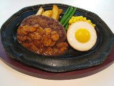 ハンバーグステーキ・目玉焼き