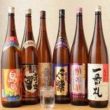 焼酎や日本酒も豊富にご用意しました♪お料理によく合います♪