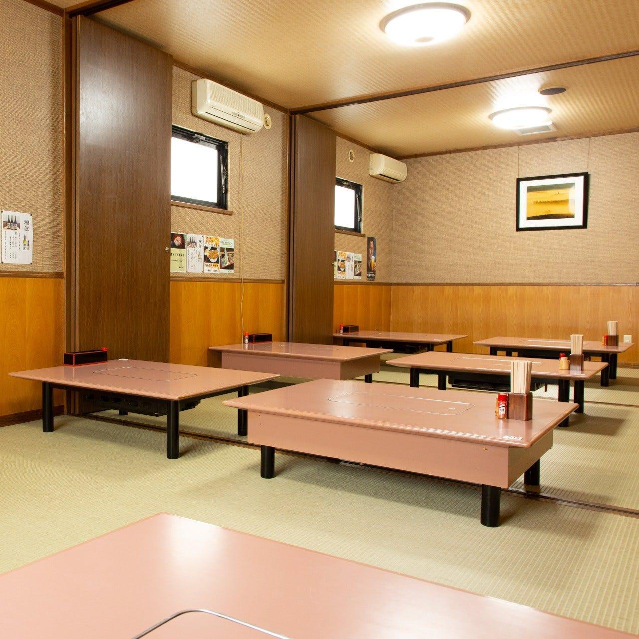 座敷は全席個室。最大42名の個室有
