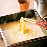 【名物豆腐】できたての引き上げ湯葉を堪能