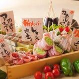 野菜も焼きに合う国産野菜をチョイス【茨城県など国産野菜を使用】