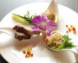 季節の三種前菜 ワンスプーンスタイル