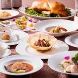ズワイガニ・北京ダック・フカヒレの姿煮の豪華特別コース