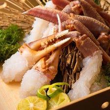 漁港から直接買い付け!多彩な蟹料理