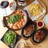 〈コースがお得〉 赤から鍋のほか、名古屋名物料理も楽しめる♪