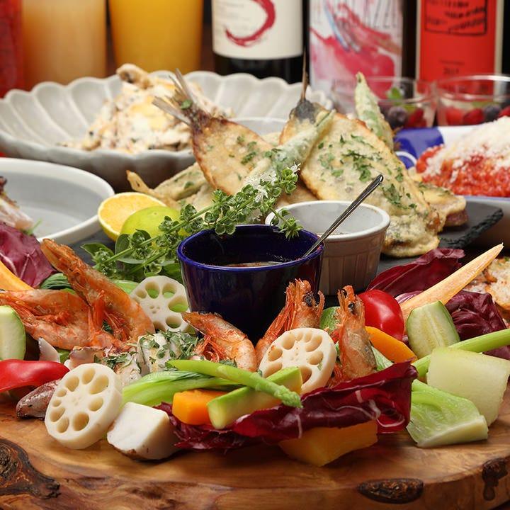 季節の新鮮食材を使った宴会コース