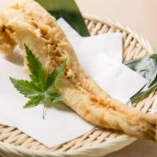 新鮮で上質な魚介類が中心の天ぷら