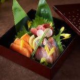 日替わり鮮魚三種盛り