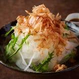 シャキシャキ水菜と大根サラダ