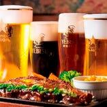 「生ビール各種」 銀座ライオン伝統の一度注ぎ!