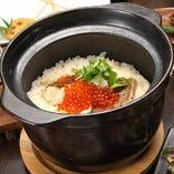 〆に必ず食べたい魚沼産コシヒカリ100%の土鍋ご飯!