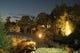 ライトアップされ趣を変える庭園