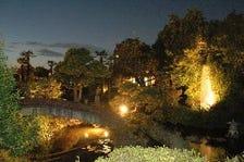 玉川上水の流れる日本庭園
