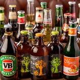 選りすぐりのクラフトビールは国内外合わせて常時20種をご用意
