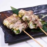 下仁田葱の肉巻き串(2串)