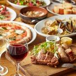 飲み放題付きの絶品イタリアンのフルコースは4種類をご用意!