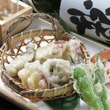 地タコの天ぷら